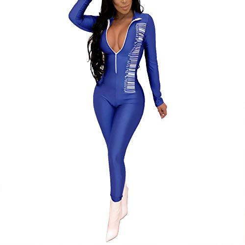 Foviza V Neck Slim Fit Low-Cut Top Bodysuit for Women Summer Short Sleeves Jumpsuit