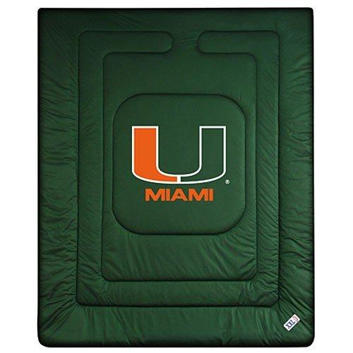 Sports Coverage NCAA Miami Hurricanes Locker Room Comforter Twin