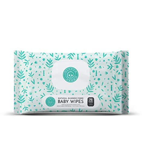 Little Toes Natural Bamboo Baby Wipes (Pack of 75)