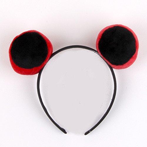 - Judy Plush Rabbit Long Ears Headband Cartoon Festival Performances Sell Lovely Cute Headband Headdress Hairpin Hair pin Comb Claw (Black on red Eye
