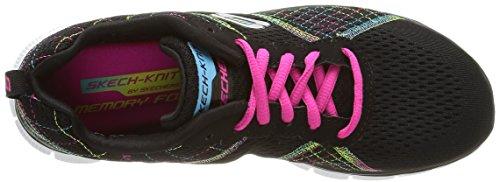 Skechers Flex AppealTotally Fab - zapatilla deportiva de lona mujer negro - negro (Bkmt)