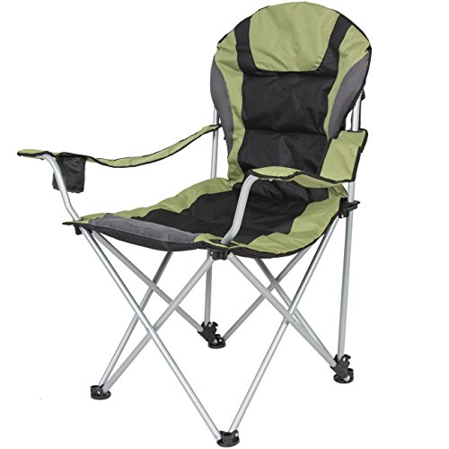 Best Choice Products Folding Deluxe Padded Reclining Camping Fishing Beach Chair With Portable Carrying - Deluxe Chair Tailgate