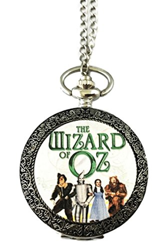 Wizard of Oz Silvertone Finish Pendant Pocket Watch