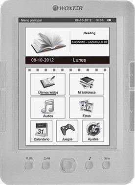 LIBRO ELECTRONICO WOXTER EBOOK E-INK SCRIBA 175 PEARL SILVER WX626 ...