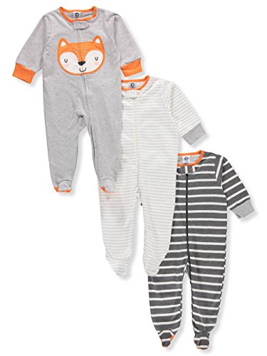 Gerber Onesies Baby Boy Sleep N Play Sleepers 3 Pack (6-9 Months, ()