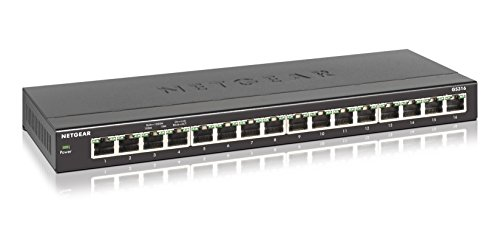 NETGEAR 16-Port Gigabit Ethernet Desktop Switch (GS316)