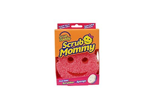 Scrub Mommy - Dual Sided Sponge with Soft Absorbent and Scratch-Free Scrubbing Sides - 3 Count