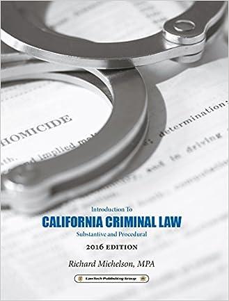 2016 California Criminal Law