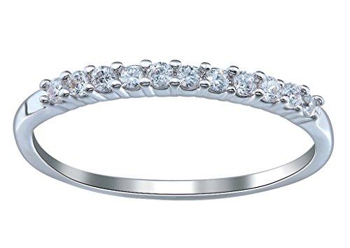 [해외](ビグッド) Bigood 반지 악세사리 반지 패션 숙 녀 그녀 선물 925 실버 심플 슬림 지 르 코니 아 다이아몬드 약혼 7 번 / (Bigood) Bigood Ring Accessories Ring Fashion Ladies She Presents 925 Silver Simple Slender Zirconia Diamond Engageme...