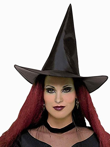 Witch Taffeta - Forum Novelties 21130 Unisex-Adults Hat-Witch Taffeta, Black, Standard