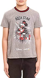 Camiseta Disney: Mickey Mouse Rock Star Colcci Fun Meninas