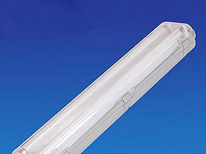 Plafoniere Neon Prezzi : Plafoniera stagna doppio tubo led t8 60cm x 2 neon a