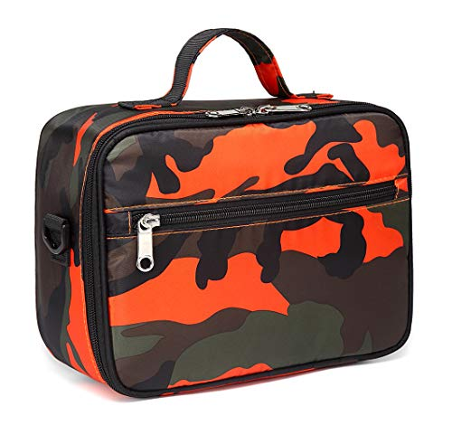Kids Insulated Lunch Box for Girls Lunch Bags for Boys for School (Camo Orange)