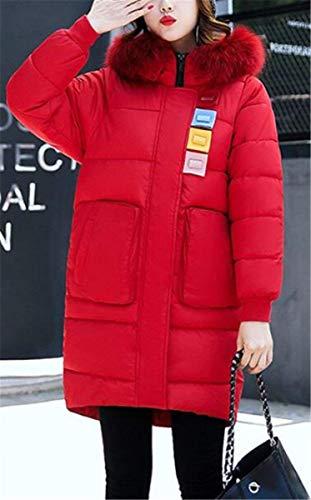 Giacca Forti Invernali Autunno Giacche Cappuccio Con Elegante Estilo Outerwear Vintage Rot Taglie Sintetica Donna Manica Lunga Moda Collo Especial Piumino Trapuntata In Mantello Pelliccia dXqdWF