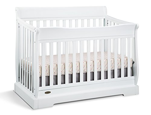 Maple Baby Crib (Graco Maple Ridge 4-in-1 Convertible Crib, White)