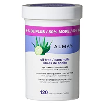 Amazon.com : Almay Oil-free Eye Makeup Remover Pads, 120 Pads : Body Scrubs : Beauty
