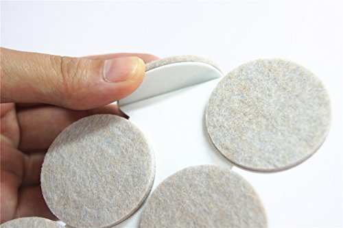 Heavy Duty Round Self Adhesive Felt Furniture Pads (144