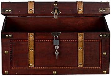 baule modello: AX4017 si chiude con la chiave; cassapanca di legno Cassapanca in stile marinaro forziere dei pirati