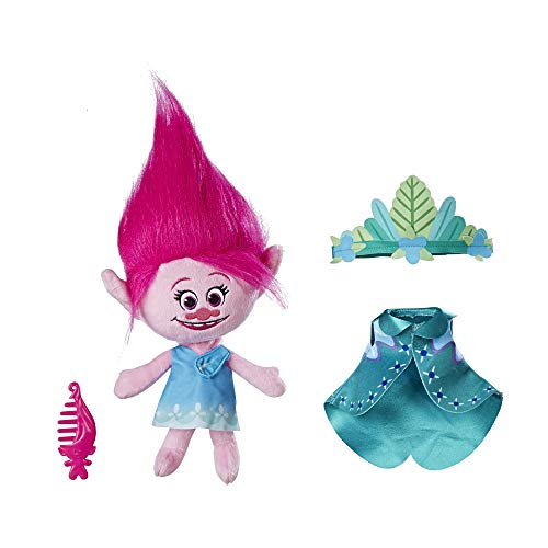 DreamWorks Trolls Queen Poppy Talkin' Troll Plush Doll, Ages 4 and up (Amazon Exclusive) -