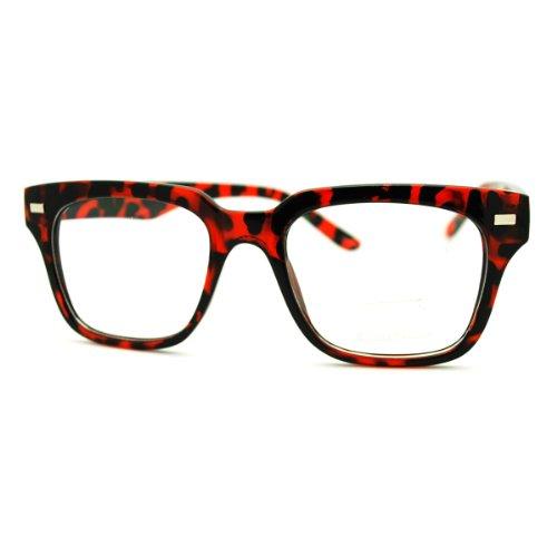 Tortoise Square Eyeglasses Optical Frame Clear Lens Fashion Glasses (Tortoise Optical Frame)