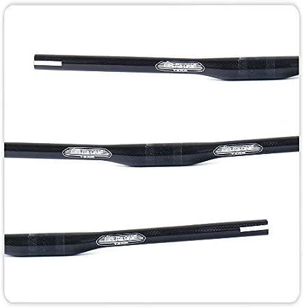 Yareta MTB Kohlefaser Downhill Lenker 660 720mm 3/°//9/° Rise /Ø31.8mm Carbon MTB Lenker schwarz