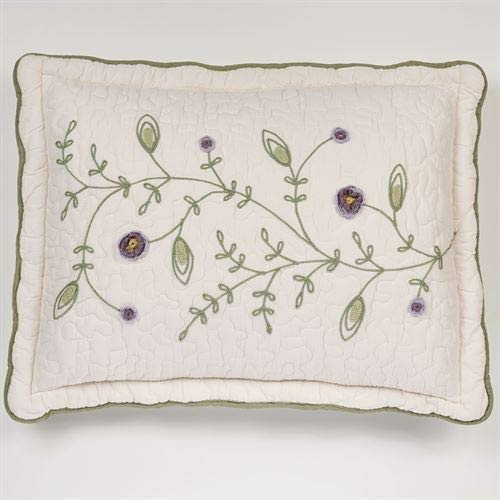 Touch of Class Blossom Quilted Sham Lavender