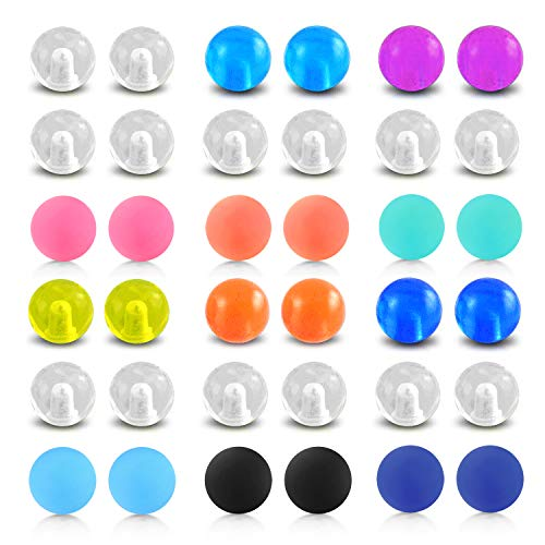 D.Bella Clear Acrylic Replacement Balls Body Jewelry Piercing Barbell Parts 14G 5mm Balls for Women ()