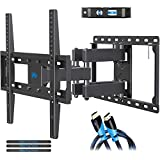 Mounting Dream TV Wall Mounts TV Bracket for Most 32-55 Inch Flat Screen TV/ Mount Bracket , Full Motion TV Wall Mount with Swivel Articulating Dual Arms , Max VESA 400x400mm , 99 LBS Loading MD2380
