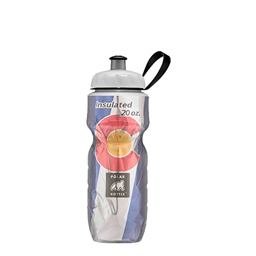 Polar Bottle Insulated Water Bottle - 20OZ Colorado Flag, 20