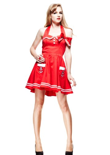 Hell-Bunny-Retro-Sailor-Pinup-Mini-Red-Sailor-Halter-Dress