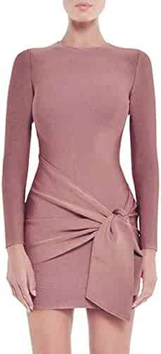 0718cc03b93c Hego Women s Coffee Club Night Out Mini Bandage Wrap Dresses Long Sleeve  for Special Occasion H5642