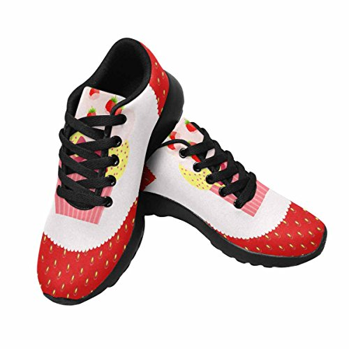 InterestPrint Womens Trail Running Shoes Jogging Lightweight Sports Walking Athletic Sneakers Strawberry Cake Multi 1 jXvec