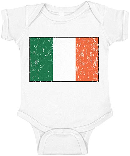 Amdesco Ireland Flag Irish Infant Bodysuit, White 12 Month
