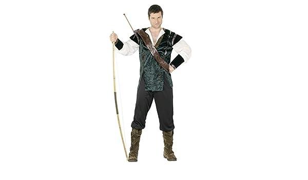 Disfraz Robin Hood verde L 52/54 cajas de bosque de la Edad media de arquero de disfraces disfraz de ladrones de vestuario de la Justicia: Amazon.es: ...