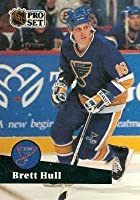 Brett Hull Hockey Card (St. Louis Blues) 1991 Pro Set #215
