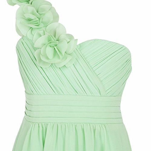 Amazon.com: FEESHOW One Shoulder Flower Girls Junior Bridesmaid Dress Party Wedding Long Gown: Clothing