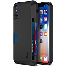 Trianium iPhone X Wallet Case [Walletium Series] for Apple iPhone x / iPhone 10 Case Wallet Credit Card [TPU Cushion] Protective Holder Enhanced Grip / Card Slot Holder Cover [Heavy Duty Protection]