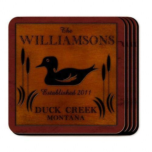 Gifts Engraved Cabin Series Coaster Set Free Personalization - Set Series Cabin Coaster