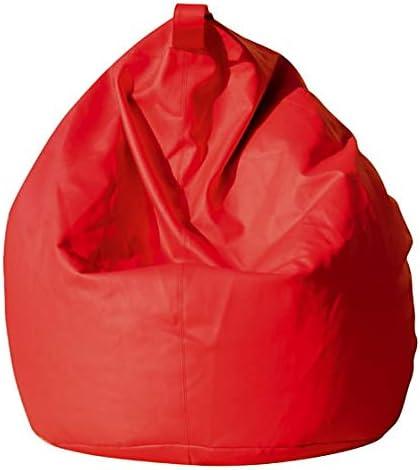 avalli Poltrona a Sacco Pouf in Eco Pelle Rossa