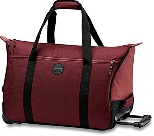 Valise Bag (Dakine Women's Valise Roller 35L Bag Burnt Rose OS & Knit Cap Bundle)