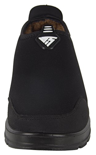 iLoveSIA Mens Warm Fur Lining Slipper Loafer Winter Faux Fur Line Ankle Boots Black a7ci8p2MyA