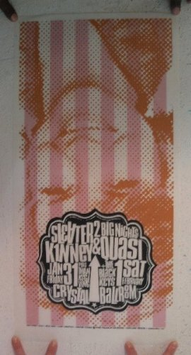 (Sleater-Kinney Black Keys Silkscreen Poster Two Sided Portland Sleater Kinney)