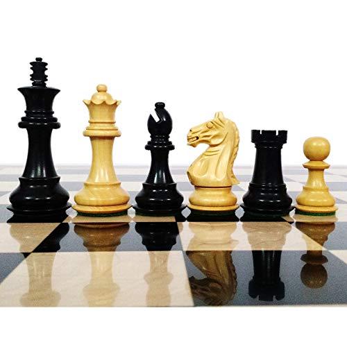 RoyalChessMall- Fierce Knight Staunton Chess Pieces Set - Weighted Boxwood - 3.5