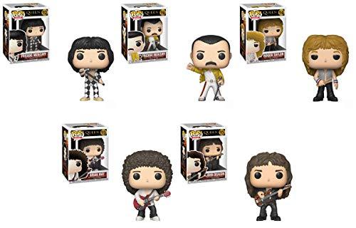 Pop Rocks: Queen - Freddie Mercury, Freddie Mercury (Wembley 1986), Roger Taylor, Brian May, John Deacon Vinyl Figures Set