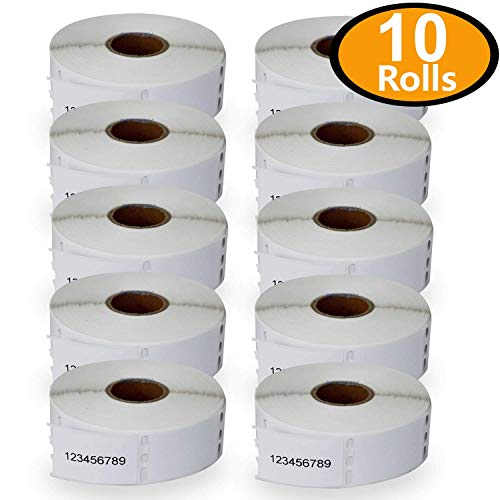 "10 Rolls DYMO 30347 Compatible 1"" x 1-1/2""(25mm x 38mm) Book Spine Labels,Compatible with Dymo 450, 450 Turbo, 4XL and Many More"