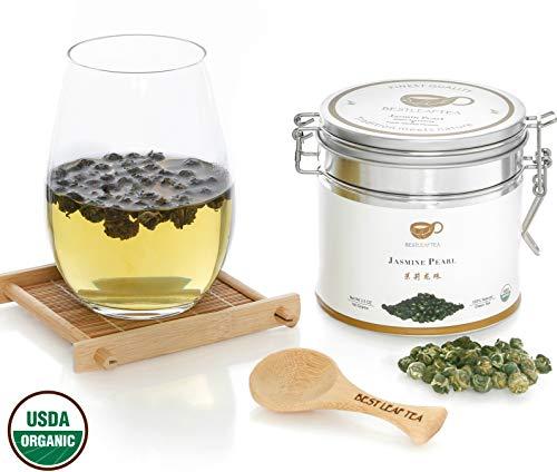 BESTLEAFTEA- 2018 Spring Picked Organic Jasmine Pearl Green Tea/Top Quality Chinese Loose Leaf Tea 100 gram/3.5 OZ