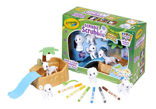 Crayola Scribble Scrubbie Safari Animals Tub Set, Color & Wash Creative Toy, Gift for Kids, Age 3, 4, 5, 6