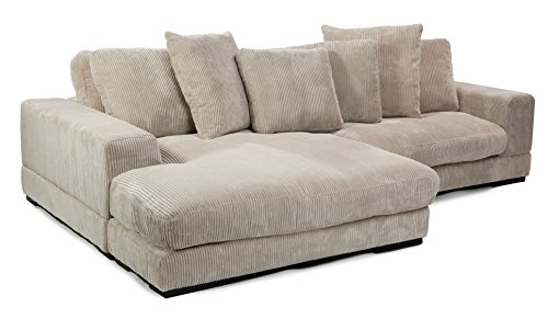 Moeu0027s Home Collection Plunge Reversible Sectional Sofa, Cappuccino