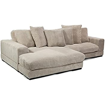Moe's Home Collection Plunge Reversible Sectional Sofa, Cappuccino