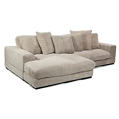 Merveilleux Moeu0027s Home Collection Plunge Reversible Sectional Sofa, Cappuccino